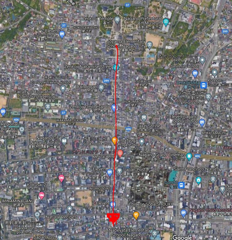 長野市内移動コース